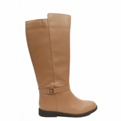 Women's Heidi Super Wide Calf�️ Vegan Boot (for larger ankles! Tan - FINAL SALE)