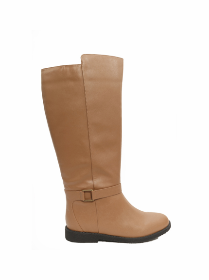 Women's Heidi Super Wide Calf™ Vegan Boot (for larger ankles! Tan - FINAL SALE)