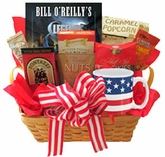 All American Gift Basket with Book and Snacks
