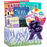 Lavender Gift Box with Book and Puzzle Books