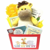 Baby Gift for Newborns Busy Baby Gift Box with Books and Giraffe