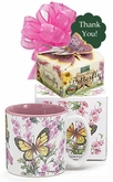 Butterfly Mug and Cookies Gift Set