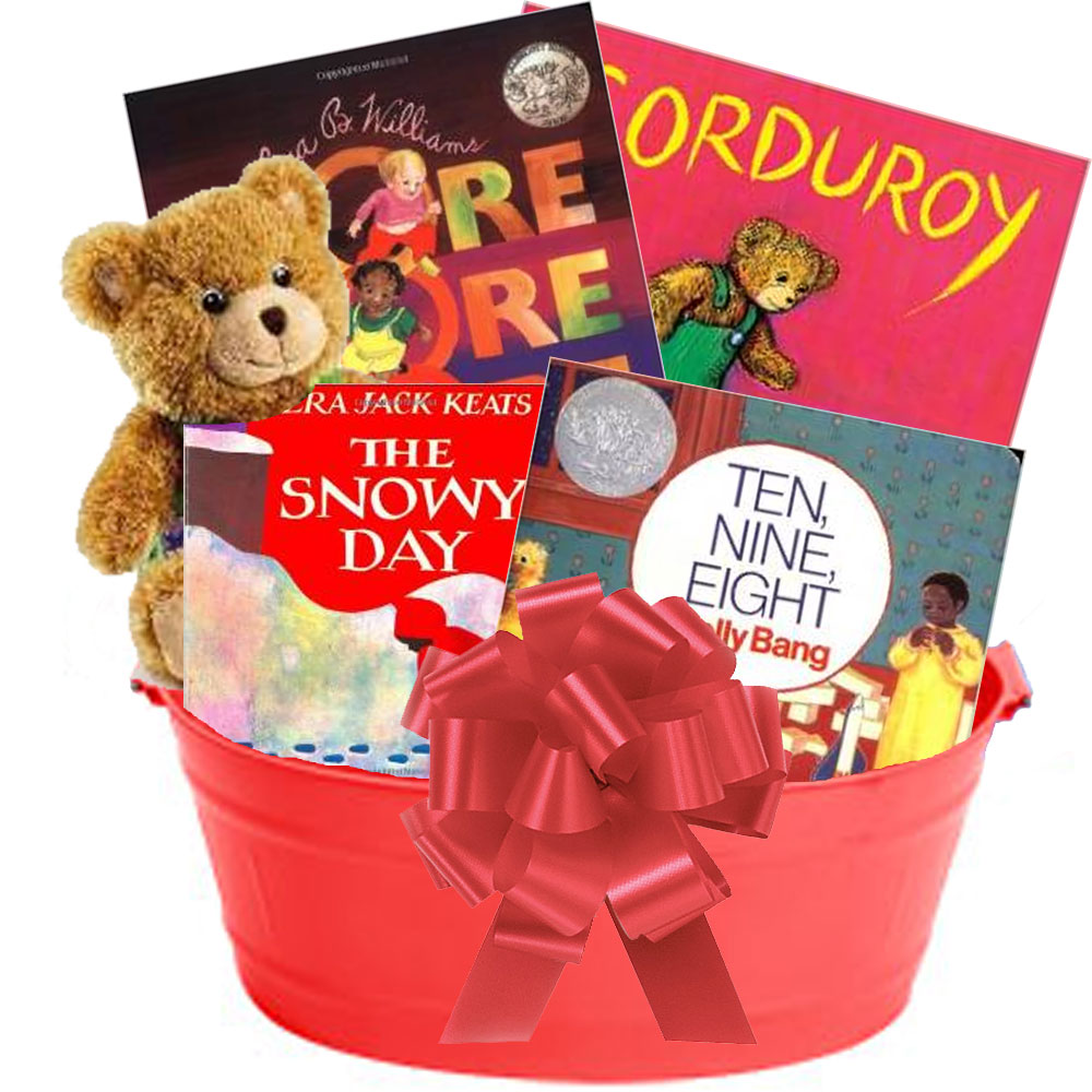 Baby Gift Baskets With Books : Caldecott books baby basket
