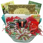 Christmas Candy Gift Basket with Books