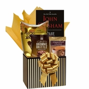 Pinstripes Gift Basket with Paperback Book
