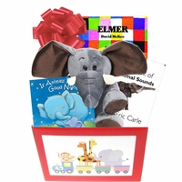 Baby Gift Box with Elephant Theme to Wish Baby Good Luck