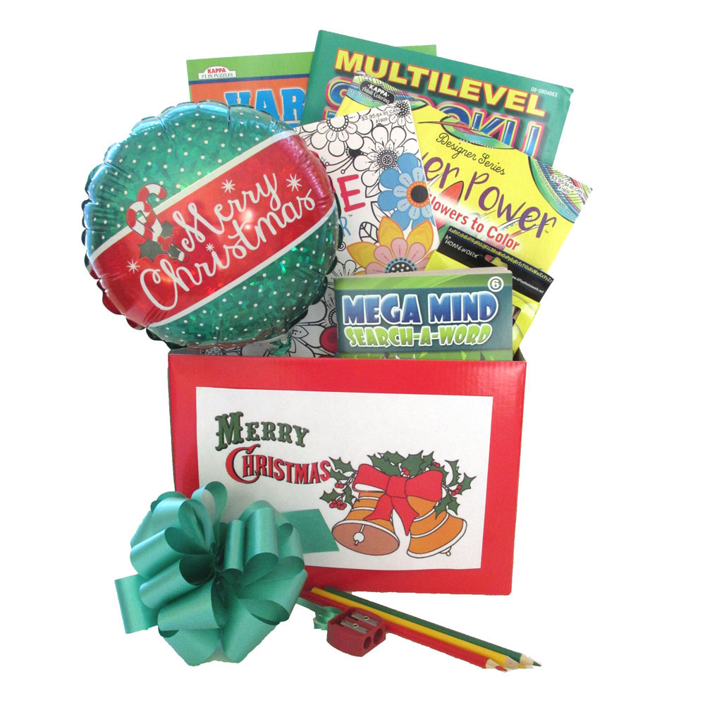 Entertaining Holidays: Entertaining Holiday Gift Box With Puzzle Books And Adult