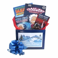 Holiday Gift Box with Book and Puzzle Books