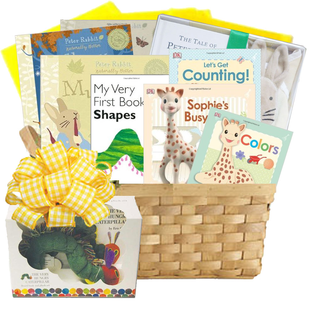 Baby Gift Baskets With Books : First library baby books gift basket is a collection of