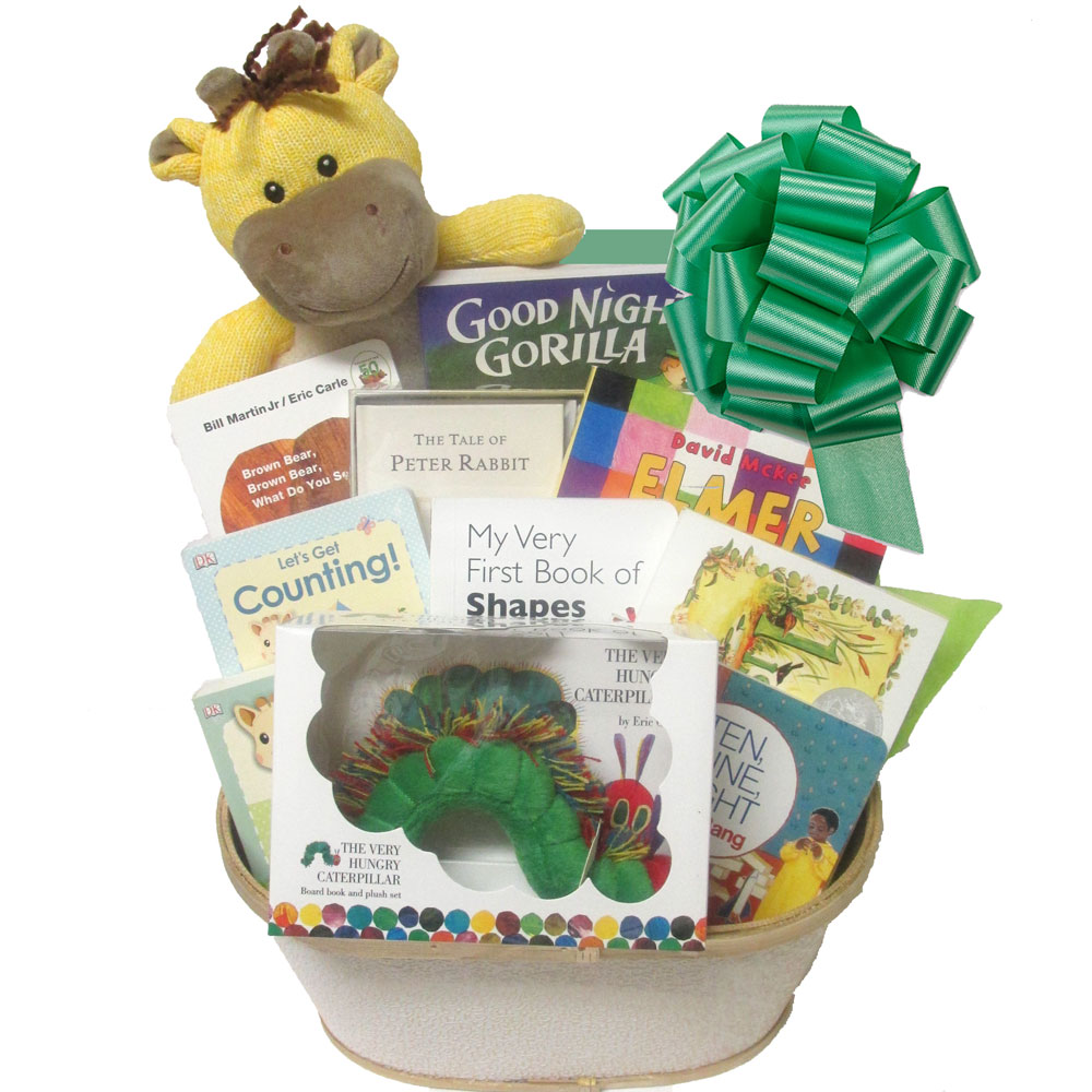 Babys First Library Gift Basket