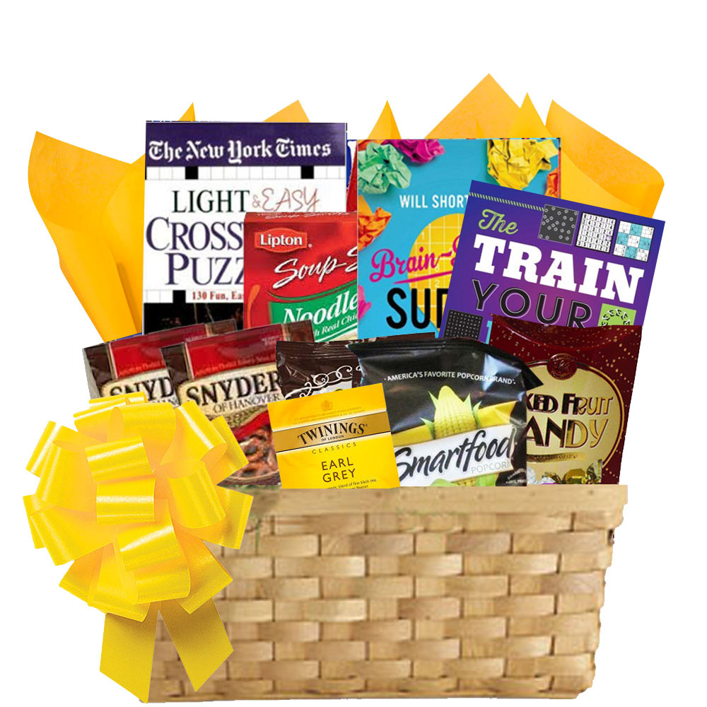 Puzzle books gift basket of entertainment deluxe puzzle books gift basket for men and women negle Images