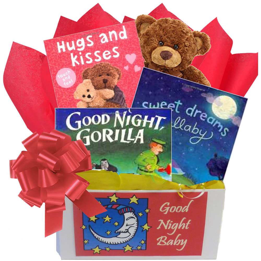 Baby Gift Baskets With Books : Good nights baby gift box