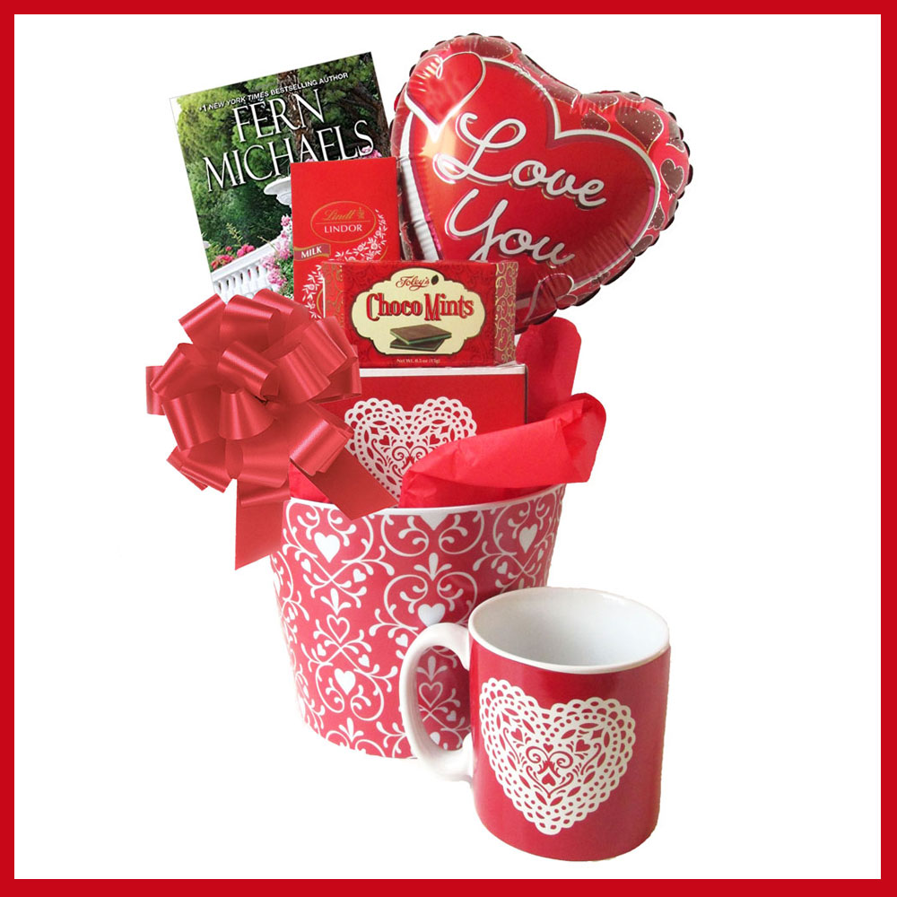 Love You Valentine's Day Gift Basket with Book
