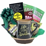 Life Is An Adventure Gift Basket for Men or Women