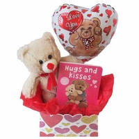 Hugs and Kisses Valentine's Day Gift Basket for Baby