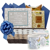 Serenity Prayer Inspirational Gift Basket