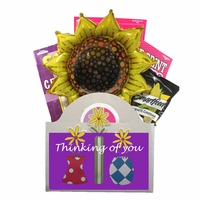 Thinking of You Puzzle Book Gift Basket for Women