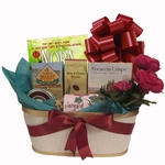 Unwind Gift Basket with Book