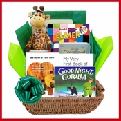 Wild for Baby Books Gift Basket