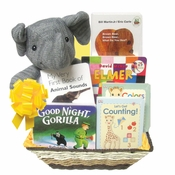 Wild Animals Baby Gift Basket