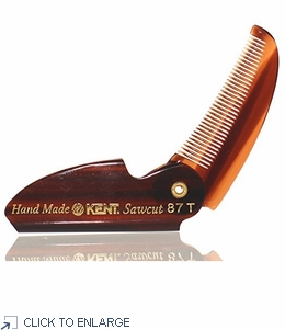 Kent Folding Moustache & Beard Comb - 87T