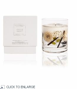 Oud & Amber Natural Wax Gel Candle by Stoneglow London