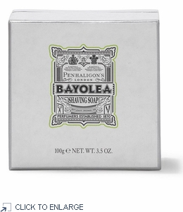 Penhaligon's Bayolea Shaving Soap in a Wooden Bowl with a 100g / 3.5 oz Bar - ONLY 1 Remains - 70% Off
