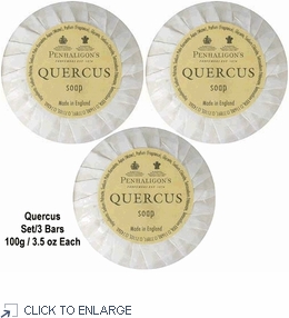 Penhaligon's Quercus Soap Set/3 Bars, each 100g / 3.5 oz