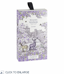 Woods of Windsor Lavender Fine English Soap, Box/3 Bars