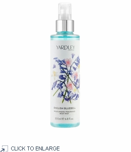 Yardley London English Bluebell Fragrance Mist 200ml - Final Sale 60% Off
