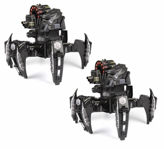 Combat Creatures Attacknid Stealth Stryder Battling Spider Toy Robot with App-Controlled Bluetooth Battle Brain, Ultra Controllable Dart Blaster Weapon System, 6-Legged Robotics with Advanced All-Terrain Handling (2 Pack)