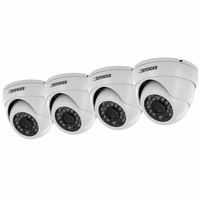 Defender Pro 4 Pack 800TVL Ultra High Resolution Widescreen Indoor/Outdoor Dome Security Cameras (21320)<!--21320-->
