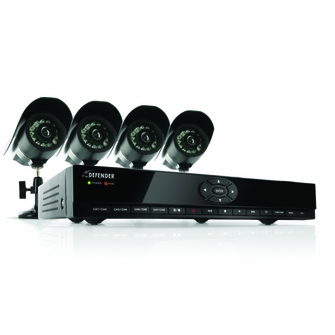 Defender SN301-8CH-002 8 Channel H.264 Smart DVR Security System with Coaching iMenu and 4 Indoor/Outdoor Hi-Res CCD Night Vision Surveillance Cameras<!--SN301-8CH-002-->
