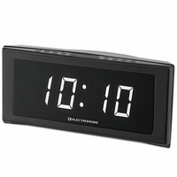 Electrohome 1.8 Inch Jumbo LED Alarm Clock Radio with Battery Backup, Auto Time Set, Digital AM/FM Tuner, Dual Alarm, Indoor Temperature & 4 Dimming Options (EAAC302W)<!--EAAC302W-->