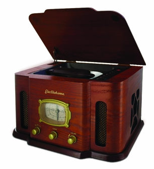 Electrohome EANOS401 2-in1 Nostalgia Real Wood CD Player Stereo System with CD-R/RW & AM/FM Radio<!--EANOS401-->