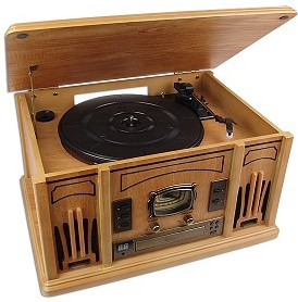Excalibur Rd54 3 In 1 Classic Music Player Real Wood Cd