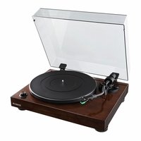 Fluance High Fidelity Vinyl Turntable Record Player with Dual Magnet Cartridge, Elliptical Diamond Stylus, Belt Drive, Built-in Preamp, Adjustable Counterweight & Anti-Skating, Solid Wood Cabinet RT81<!--RT81-->