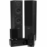 Fluance SXHTB-BK High Definition Surround Sound Home Theater 5.0 Channel Speaker System including Floorstanding Towers, Center and Rear Speakers<!--SXHTB-BK-->