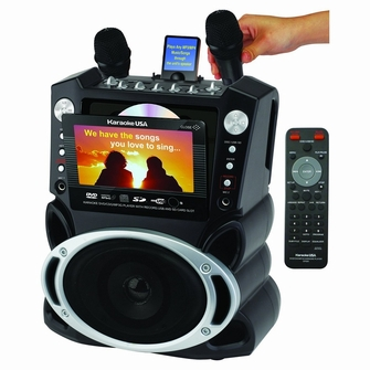 Karaoke USA All-in-one Karaoke System with 7-inch TFT Color Screen and Record Function - GF829<!--GF829-->