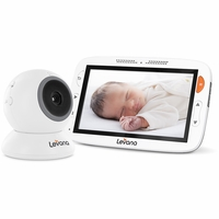 """Levana® Alexa™ 5"""" LCD Video Baby Monitor with Temperature Monitoring, Feeding/Nap Timer, Two Way Intercom, Rapid Recharge Technology and Power Save Mode<!--32199-->"""