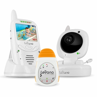 Levana Jena Digital Baby Video Monitor with Levana Powered by Snuza Oma Portable Baby Movement Monitor System (32123)<!--32123-->