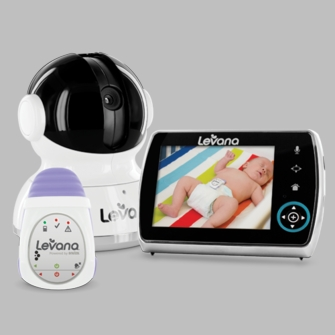 Levana Keera Digital Baby Video Monitor with Levana Powered by Snuza Oma+ Portable Baby Movement Monitor System<!--32047-->