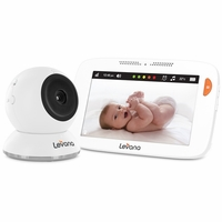 """Levana® Shiloh™ 5"""" Touchscreen High Definition Video Baby Monitor with Feeding/Nap Timer, Temperature Alerts and Split or Quad Screen View (32200)<!--32200-->"""