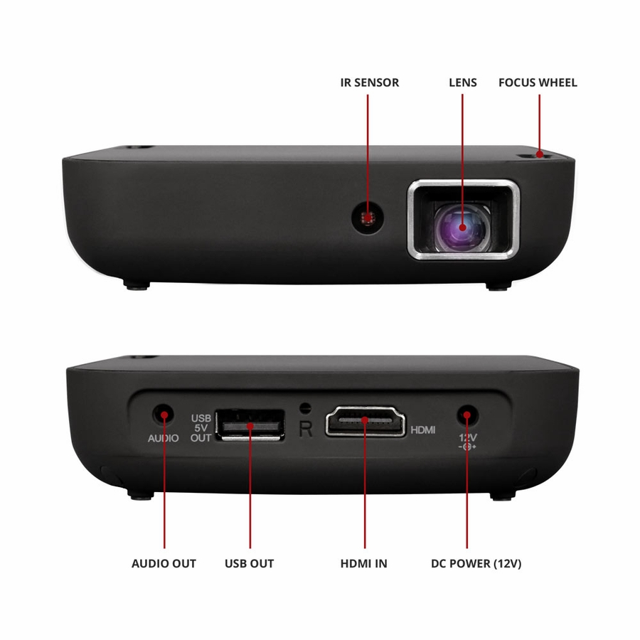 Magnasonic wi fi mini video projector hdmi wireless for for Wireless mini projector