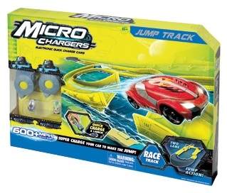 Micro Chargers Jump Track with 2 Electronic Quick Charge Cars and 2 Handheld Chargers - ID27009<!--ID27009-->