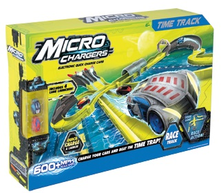 Micro Chargers Toy Race Car Time Track with 2 Quick Charge Cars<!--ID27005-->