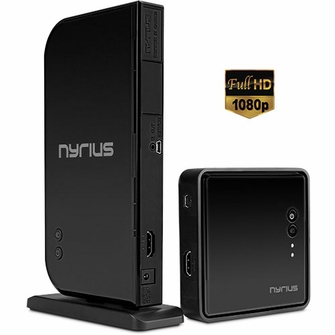 Nyrius ARIES Home HDMI Digital Wireless Transmitter & Receiver for HD 1080p Video Streaming, Cable box, Satellite, Bluray, DVD, PS3, PS4, Xbox 360, Xbox One, Laptops, PC (NAVS500)<!--NAVS500-->
