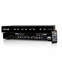 Nyrius NSW500 All-in-one HD 1080p Video Selector Switch, 6-input, supports HDMI, VGA, Component, RCA-Composite and S-Video<!--NSW500-->