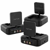 Nyrius NY-GS10 5.8GHz 4 Channel Wireless Audio/Video Transmitter System with Bonus Additional Receiver (NY-GS10RX)<!--NY-GS10-NY-GS10RX-KIT-->