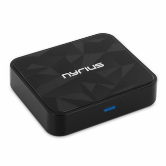 Nyrius Songo HiFi Wireless Bluetooth aptX Music Receiver for Streaming iPhone, iPad, iPod, Samsung, Android, Blackberry, Smartphones, Tablets, Laptops to Stereo Systems with Digital Optical or 3.5mm Audio Connections (BR50)<!--BR50-->